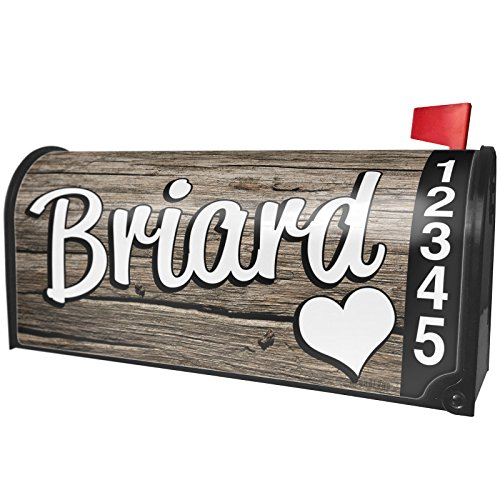- NEONBLOND Briard, Dog Breed France Magnetic Mailbox Cover Custom Numbers