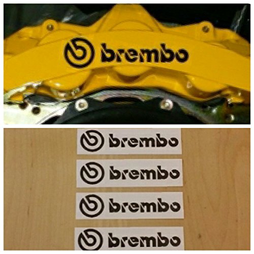 Brembo Brake Caliper HIGH TEMP Decal Sticker Set of 4 (Black)
