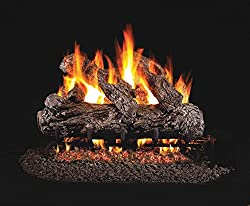 RealFyre Rustic Oak Vented Gas Logs (HR-24), 24-Inch