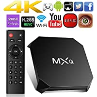 MXQ TV Box Android 6.0, Smart Tv Box Quad Core 16.1 4K Ultra HD 1G/8G 64Bit Set Top TV Box with WiFi HDMI DLNA