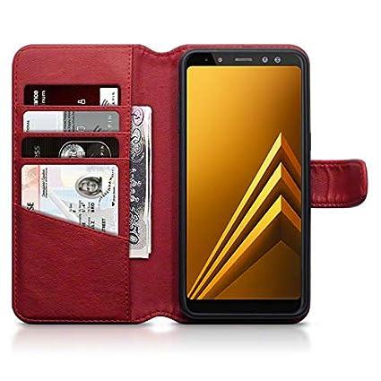 2cc15c07a53f Amazon.com: Olixar Samsung Galaxy A8 2018 Wallet Case - Genuine ...