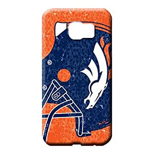 samsung galaxy s6 edge Protection PC Skin Cases Covers For phone mobile phone carrying skins denver broncos nfl football