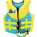 Titop Infant Babyoutdoor Sports Swim Vest Under 35 Lbs Children Swim Jacket Fins Blue With New Added Cross Belt Size Small for 1-3 Years