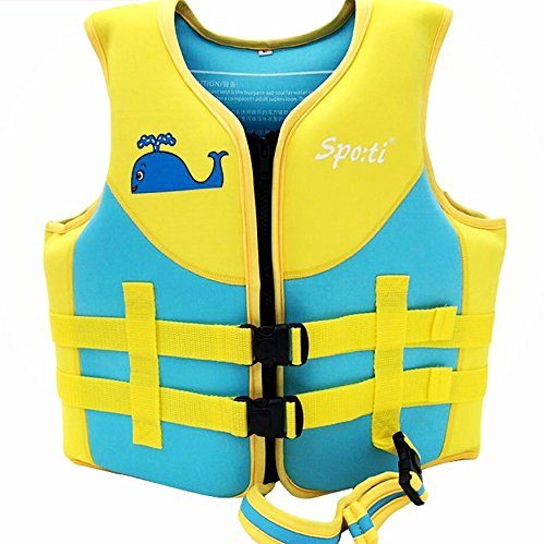 Titop Infant Babyoutdoor Sports Swim Vest Under 35 Lbs Children Swim Jacket Fins Blue With New Added Cross Belt Size Small for 1-3 Years by Titop
