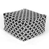 Majestic Home Goods Black Links Ottoman, Large Review