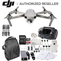 DJI Mavic Pro Platinum Collapsible Quadcopter Starters Backpack Bundle