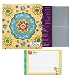 C.R. Gibsons Tunisian Sunset Recipe Binder Bundle with Bonus Refill Sheets & Recipe Cards