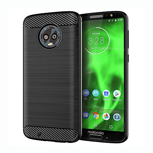 ne Case with Tempered Glass Screen Protector Slim Thin Accessories Full Body Rugged Gel Rubber Silicone Protective Cell Cover for MotoG6 G 6th Gen 6 6G XT1925DL XT1925 XT1925-6 Men ()