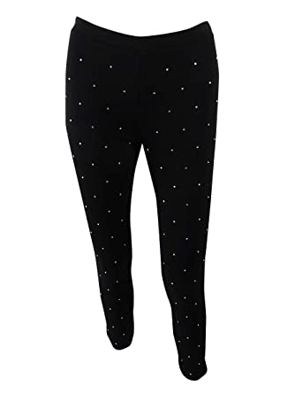 ddf720e93fcee Image Unavailable. Image not available for. Color: Michael Michael Kors  Women's Petite Studded Leggings (PS ...