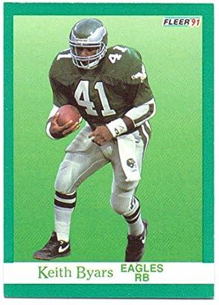 11ecadfd34c Keith Byars 1991 Fleer #325 - Philadelphia Eagles at Amazon's Sports ...
