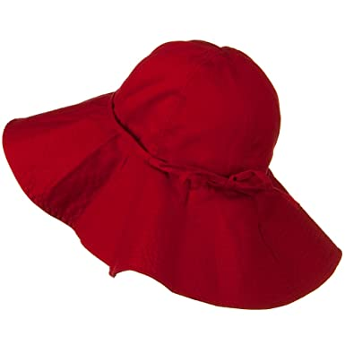 3607fc5be16 Big Cotton Wide Floppy Brim Hat - Red 7-1-2 at Amazon Women s ...