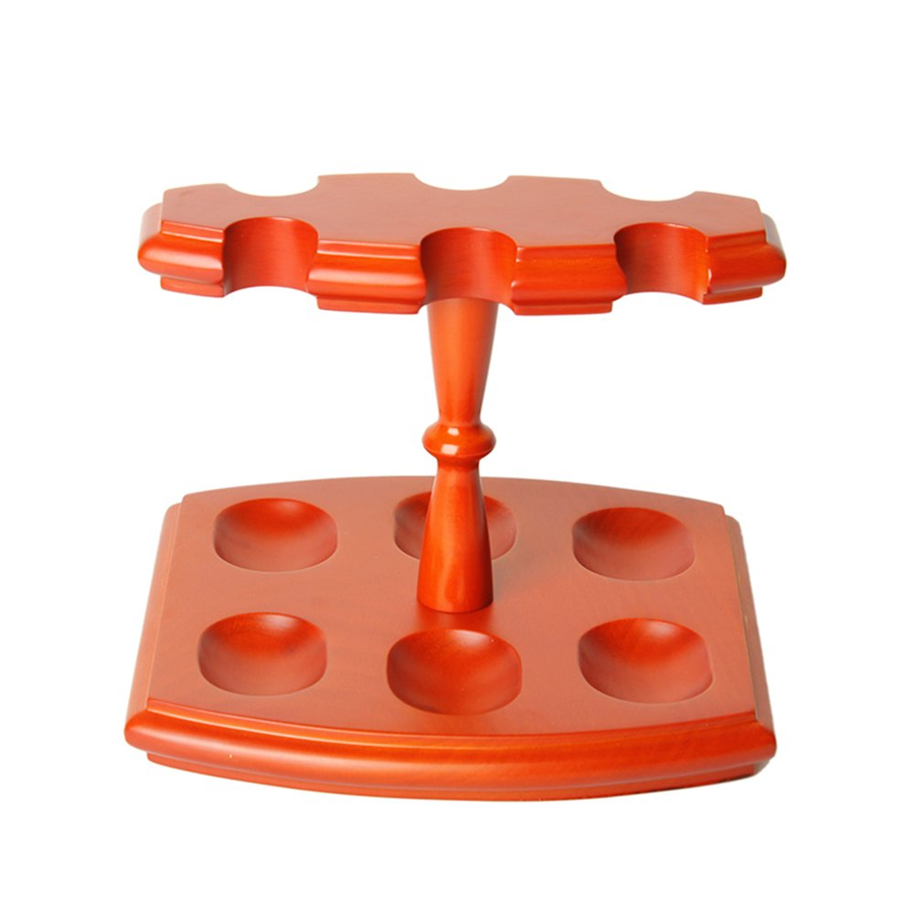 MUXIANG New Pipe Stands European Beech Wood Rack Tobacco Pipe Stand Holder for 6 Pipes by MUXIANG
