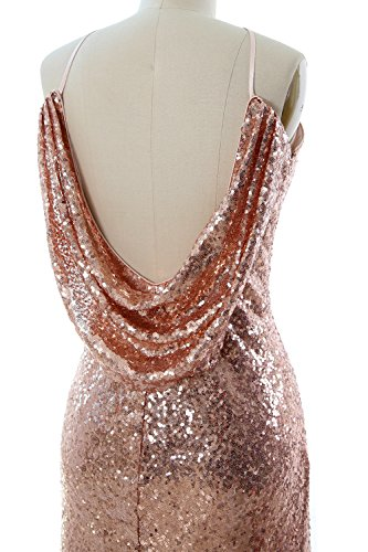 Sequin Dress Silver Cowlback Long Evening Gown Women Formal Macloth Halter Bridesmaid RXqTcEx