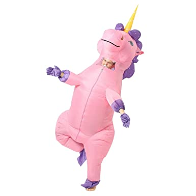 a81df84a4027 Amazon.com  Adult Unisex Inflatable Pink Unicorn Halloween Party ...