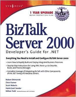 Book Biz Talk Server 2000 Developer's Guide for .NET (.Net Developer Series) by Robert Shimonski (2002-04-05)