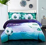 Luxury 3D Flying Soccer Print Cotton Bedding Sets Duvet Covers Set 4-Piece (Queen)