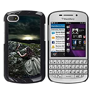 iKiki Tech / Estuche rígido - Nature Sun Bird Storm Summer - BlackBerry Q10