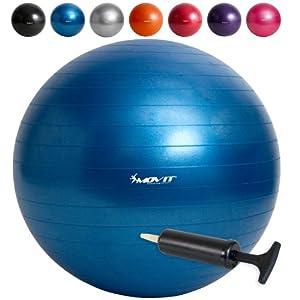 MOVIT® Gymnastikball inklusive Pumpe, 65cm bzw. 75cm, 7 Farben,...