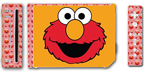 Sesame Street Tickle Me Elmo Cure Doll Video Game Vinyl Decal Skin Sticker Cover for the Nintendo Wii System Console