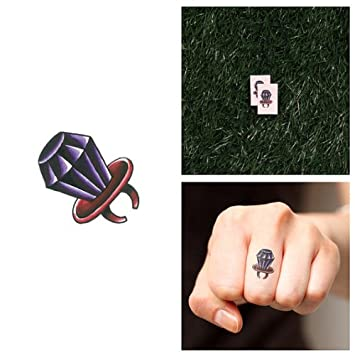 d545c52f2 Amazon.com : Tattify Diamond Ring Temporary Tattoo - Bling Bling (Set of 2)  - Other Styles Available - Fashionable Temporary Tattoos : Beauty