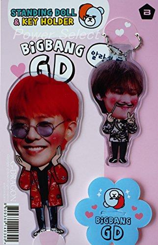 BIGBANG ビッグバン G-DRAGON ジヨン GD キーホルダー + スタンディング フィギュア 「2点セット」