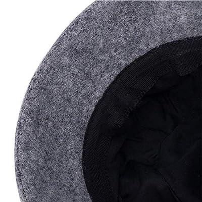 Winter Hat Flower Wool Beret Winter Cap Beanies Church Hats Cloche Bonnet