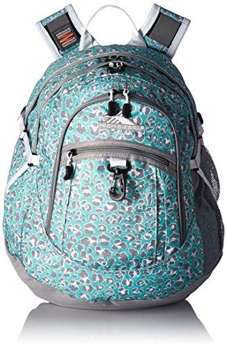 High Sierra Fat Boy Backpack, Mint Leopard/Ash/White