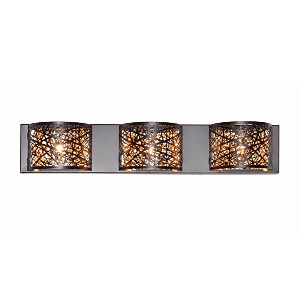 Modern Bronze Finish Vanity 4 Light Wall Fixture Bathroom Home Lighting Decor eBay