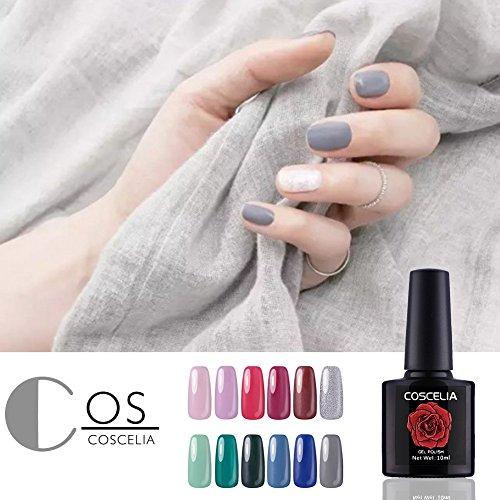 Coscelia Gel Nail Polish 12 Colors 10ml Soak Off Nail Art Ma