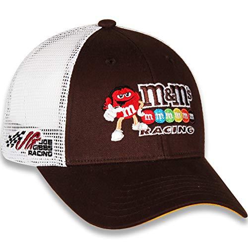 Checkered Flag Kyle Busch 2019 Draft Mesh NASCAR Hat Brown, White