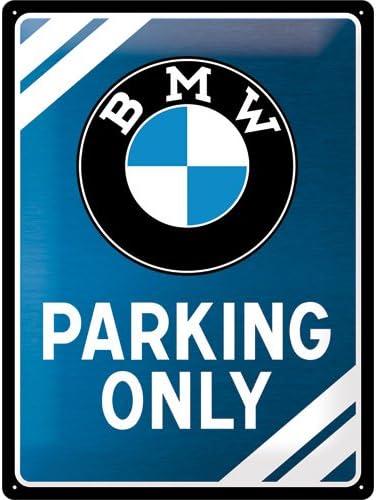 Nostalgic Art Retro Blechschild Bmw Parking Only Blue Geschenk Idee Für Auto Zubehör