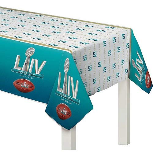 Amscan Super Bowl 54 LIV Party Tablecover