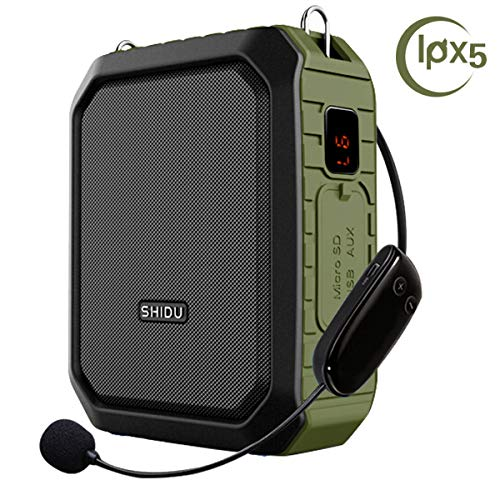 Wireless Voice Amplifier with Headset Mic 18W Voice Loudspeaker Portable Bluetooth Speaker Waterproof IPX5 Power Bank for Outdoor Activities, Shower, Teachers, Presenter, Salesman etc