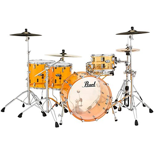 Pearl Crystal Beat 4-Piece Rock Shell Pack Tangerine Glass (Pearl Acrylic Drums)