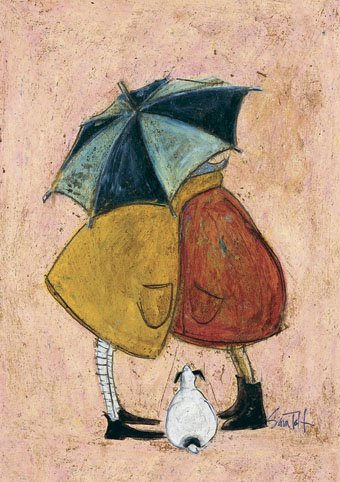 """ Secret Smooches "" Sam Toft Open Greeting Card - ST302"