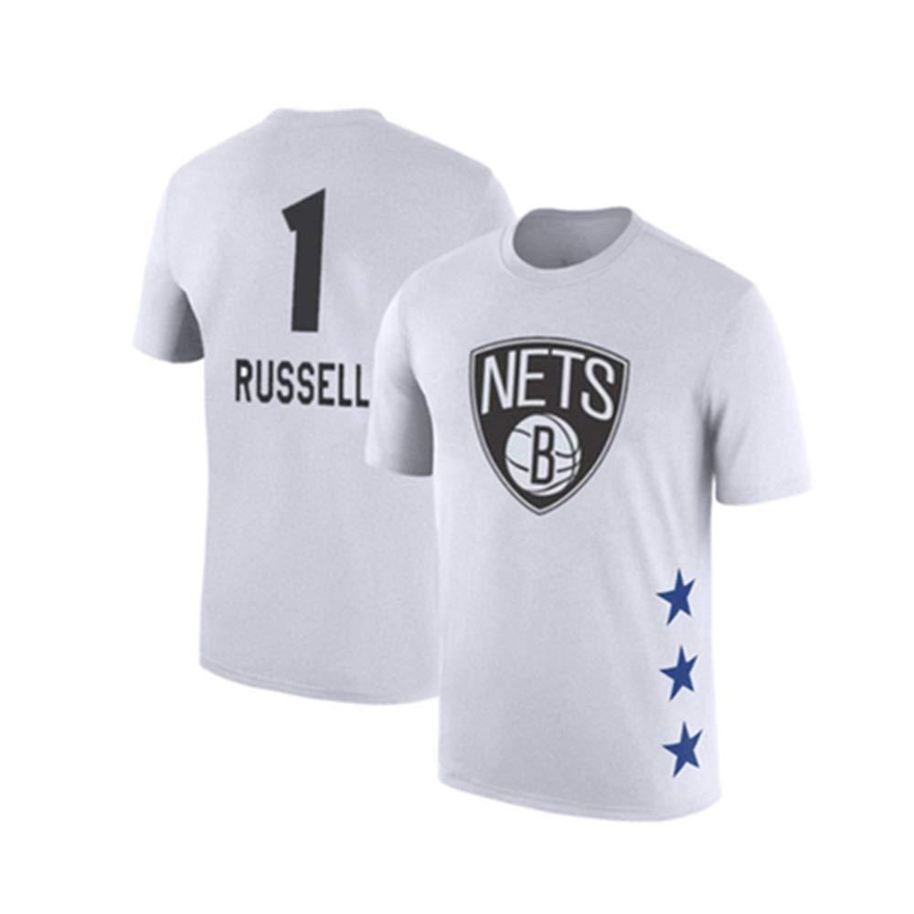 blanc11 X-grand WSX T-Shirt De Basketball NBA All-Star à Manches Courtes, Chemise étudiante, Haut Imprimé, Manches Moitié Supérieure Lakers,blanc5-M