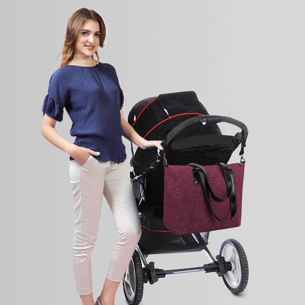 S-ZONE Pa?al de beb/¨/¦ bolsa de gran tama?o Bolso Anti-agua con almohadillas cambiantes y correas de cochecito