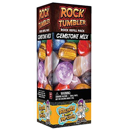 Rock Tumbler Refill - Rough Gemstones of Nine Varieties (1lb) (Best Rock Tumbler For Kids)
