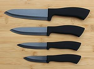 Edles und hochwertiges Keramik Messer Set 4-teilig von KaiserwerK / Matt...
