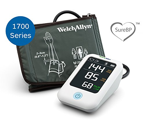 Welch Allyn Home 1700 Series Blood Pressure Monitor and Upper Arm Cuff, Clinical-Grade Technology and Easy Bluetooth Smartphone Connectivity HBP100SBP by Welch Allyn Home (Image #1)