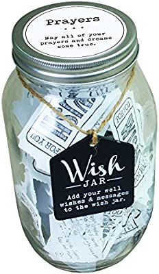 Top Shelf Prayer Wish Jar Personalized Religious Gift For Him Her Unique And Thoughtful Gift Ideas For Friends And Family Kit Comes With 100 Tickets And Decorative Lid Buy