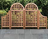 Dual Andover Arch Cedar Trellises with Wings, 67''H