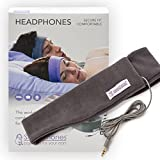 SleepPhones Classic Headphones | Ultra Thin Speakers in Lightweight & Comfortable Headband | 4 Foot Braided Cable Connects to Audio Devices | Best for Insomnia | Soft Gray - Fleece Fabric