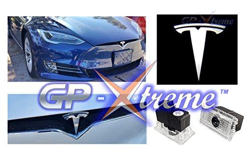 GP-Xtreme TESLA MODEL S MODEL X MODEL Y MODEL 3 No Drilling Changeable Logo Door Courtesy Welcome Light Laser Emblem Logo Kit Ghost Shadow Lights logo chips