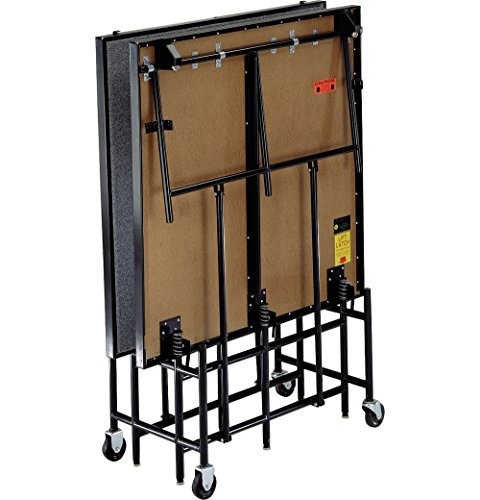 8' High Riser (Midwest Folding Products 4' Deep x 8' Wide Mobile Stage 32 Inch High Hardboard Deck)