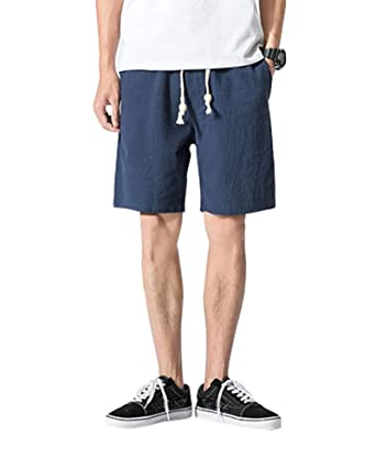 últimos diseños diversificados último vendedor caliente ahorre hasta 60% Hombre Casual Shorts Cortos Pantalones Tallas Grandes Bermudas De Lino