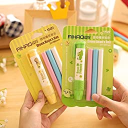 3Pcs/Pack Cute Writing Drawing Pen style Erasers For Office and Student Stationery