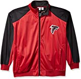 NFL Atlanta Falcons Men FULL ZIP TRICOT TRACK JACK, CARDINAL/BLACK, 3XT