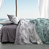 Dusty Purple Duvet Cover Lavender Lilac Bohemian Paisley Duvet Quilt Cover Light Blue Purple Boho Chic 100% Cotton Bedding Set Oriental Indian Style Tapestry Print in King or Full Queen Size (King, Dusty Purple)