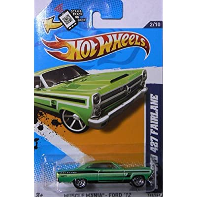 Hot Wheels Muscle Mania - Ford '12 Green '66 Ford 427 Fairlane 112/247: Toys & Games